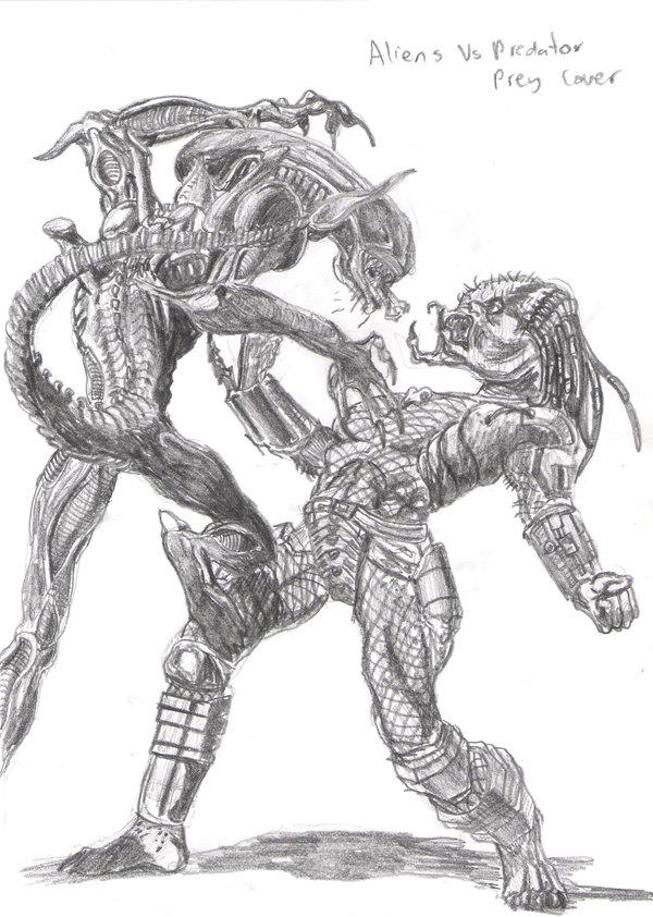 Drawn predator masked By DeviantArt  on Alien
