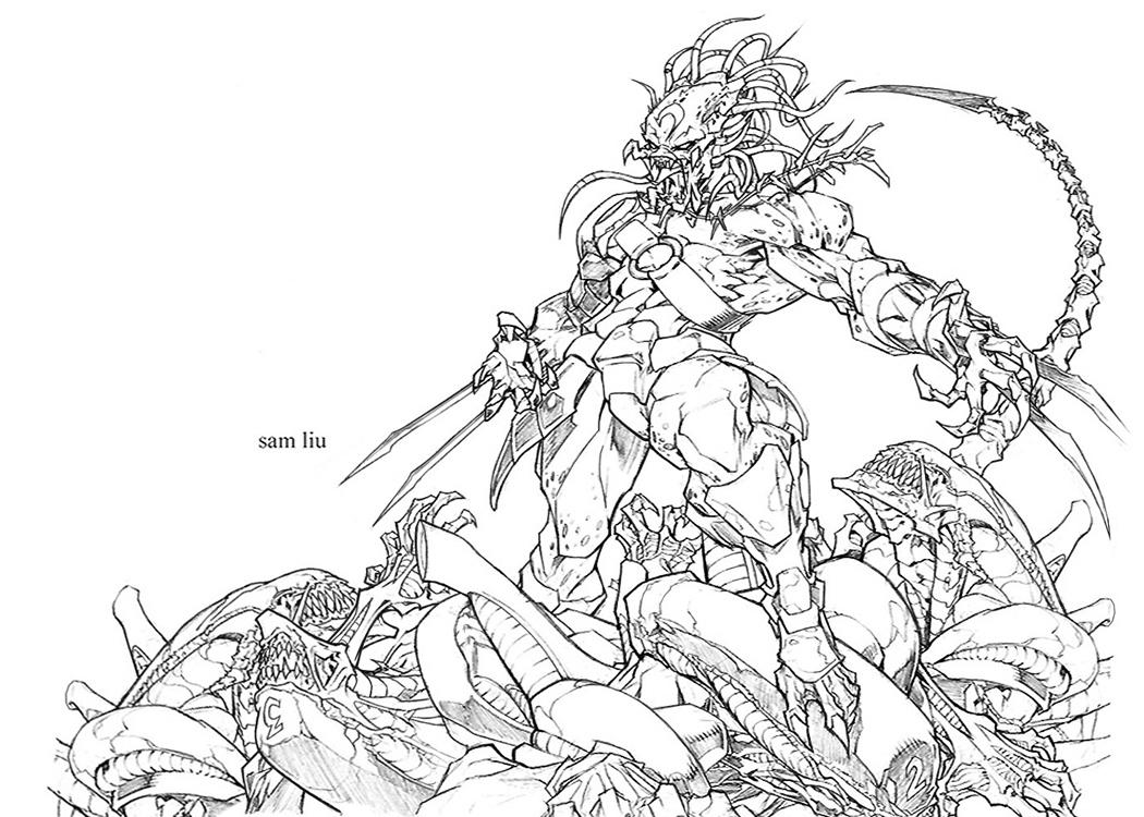 Drawn predator alien vs predator Vs Alien Draw vs Predator