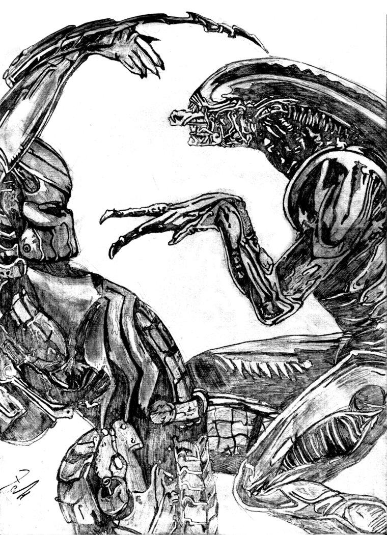 Drawn predator masked Amucchina Alien by Predator DeviantArt