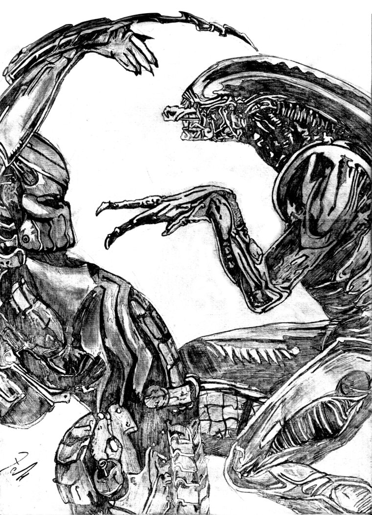 Drawn predator masked Alien Alien DeviantArt vs on