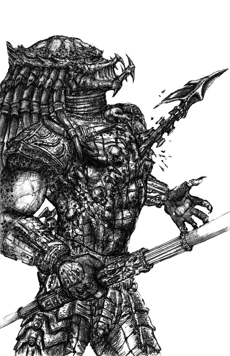 Drawn predator masked Vs PREDATOR PREDATOR vs on