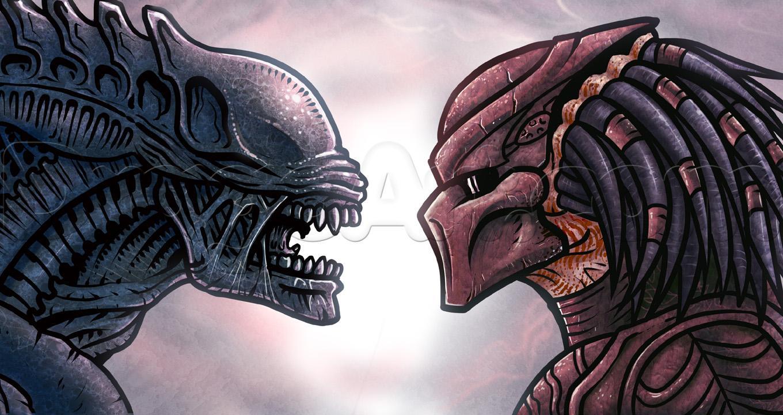 Drawn predator alien vs predator Alien to predator alien by