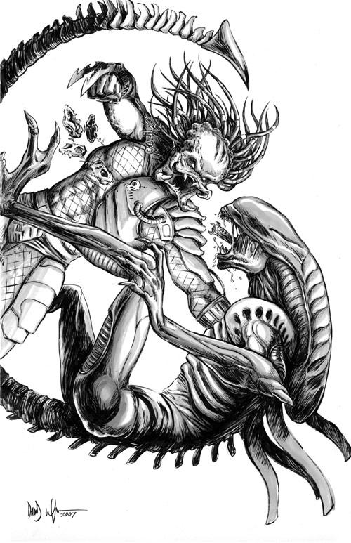 Drawn predator alien vs predator Predator Vs Predator The finished