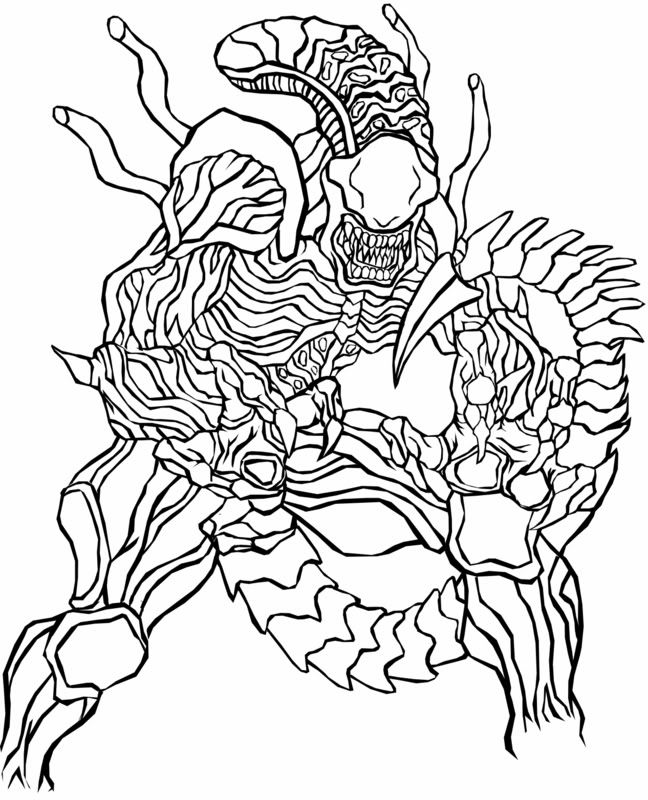 Drawn predator coloring page Coloring Adults for Colouring predator?vm