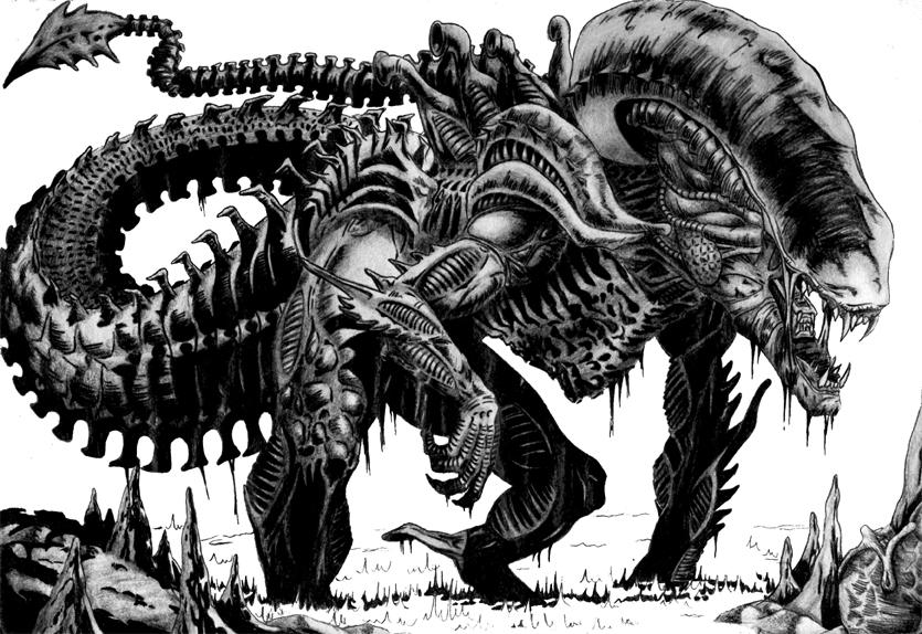 Drawn predator alien movie DeviantArt diffusion by diffusion on