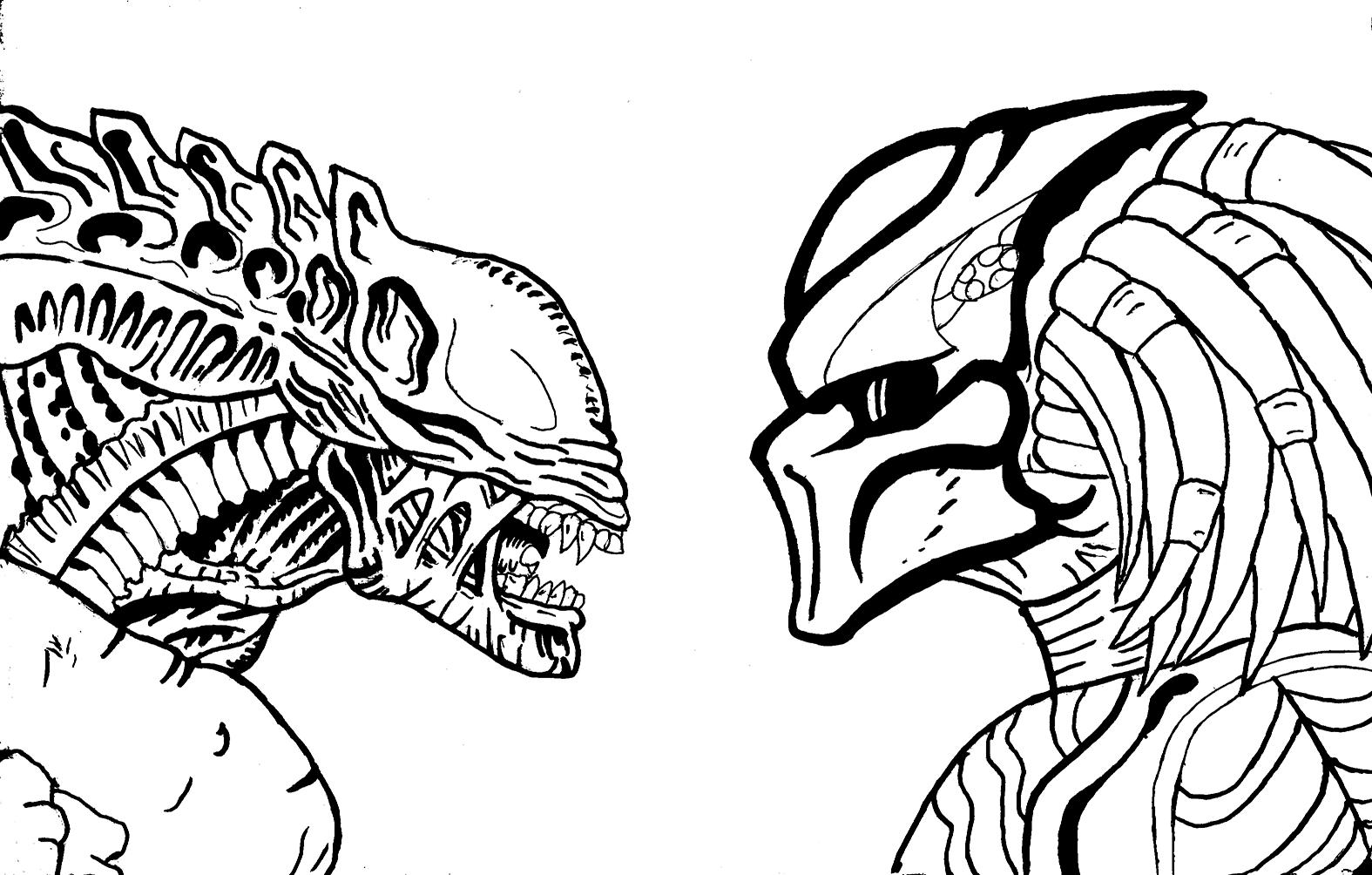Drawn predator alien vs predator Predator DeviantArt Alien VS dragokaiju2000