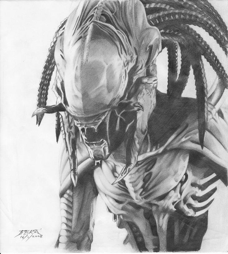 Drawn predator predalien 7 ~ferdi87 about Predalien Pinterest