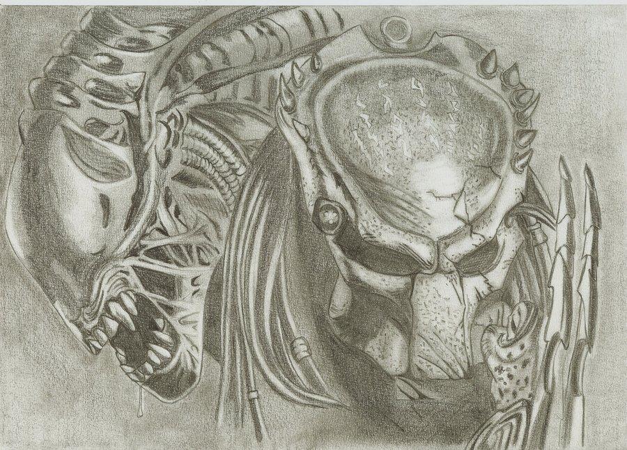 Drawn predator avp 2015  alien jag8519 traditional