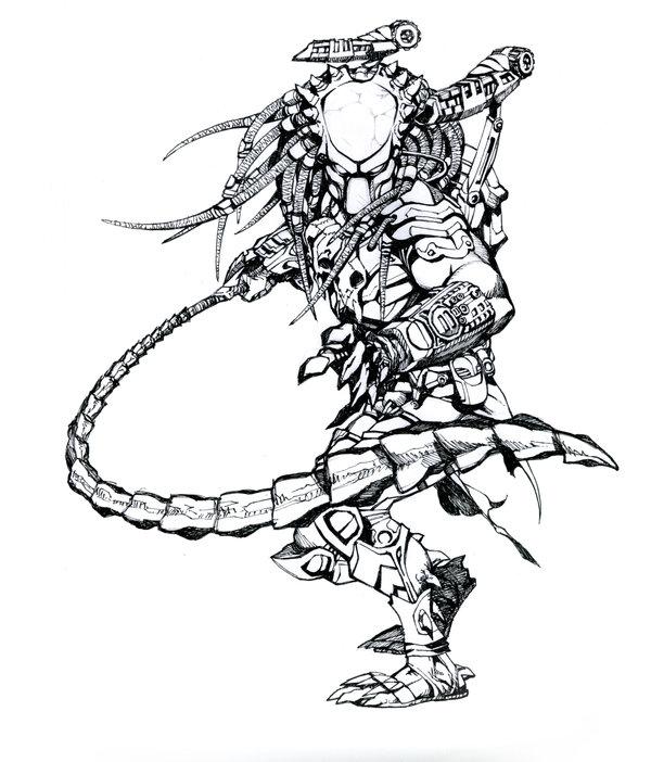 Drawn predator samurai  a Competition Predator 2008