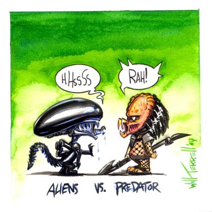 Drawn predator cartoon Drawing harddrive Predator of if