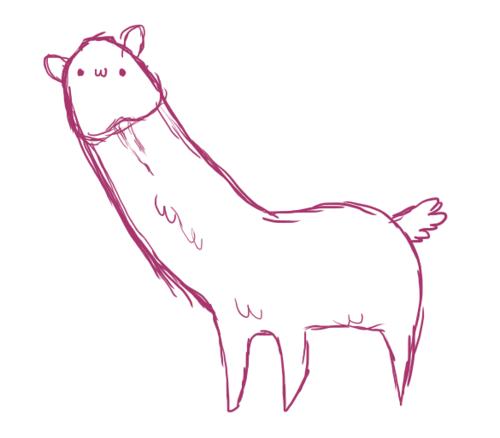 Drawn alpaca Art Pencil Drawing Drawing Realistic