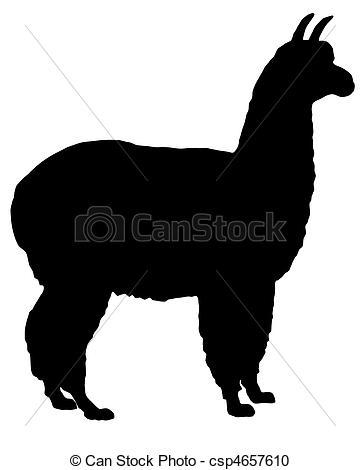 Alpaca clipart black and white Alpaca Clip lantapix20/1 free and
