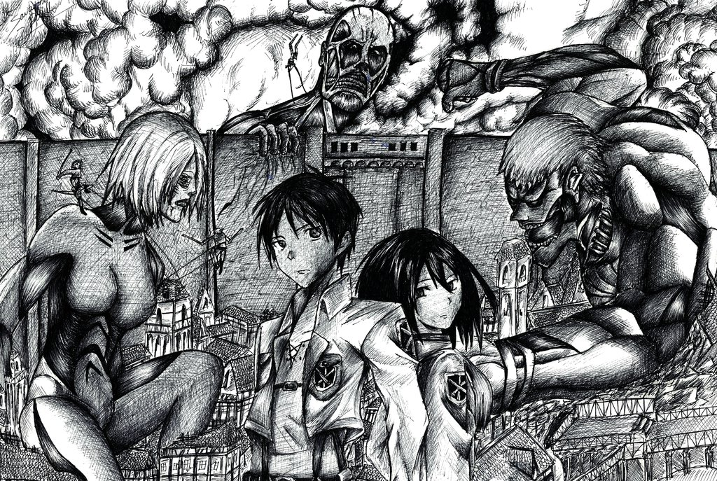 Drawn amd attack on titan On by DeviantArt Attack Pen