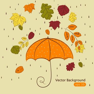 Drawn amd autumn Rain Funky Autumn Hand Cliparts