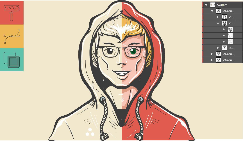 Drawn amd avatar Round Illustrated Icons Icons icons