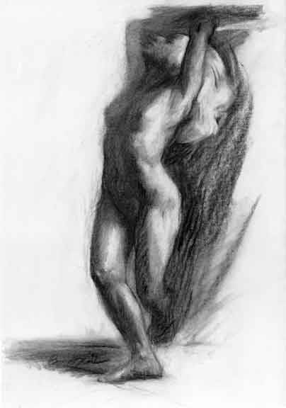 Drawn amd charcoal And movement Rebecca Alzofon capture