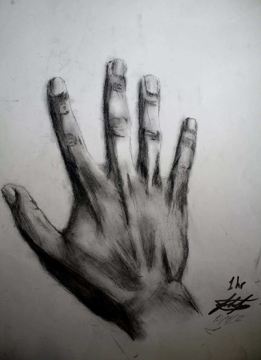 Drawn finger charcoal #13