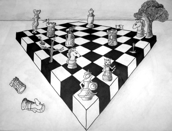 Drawn amd chess And Paintings Point Two Perspective