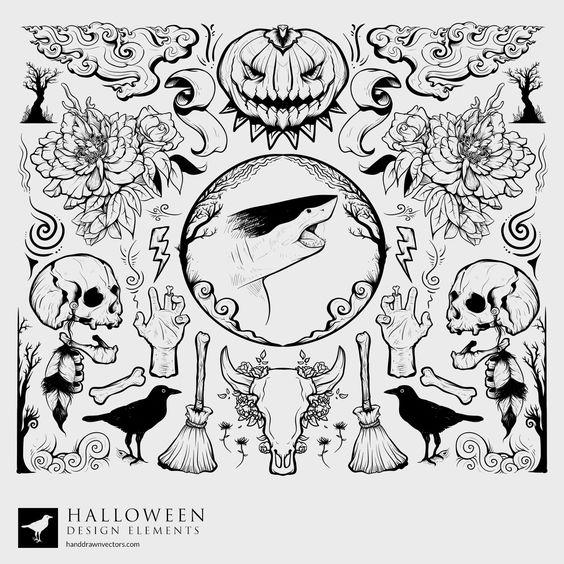 Drawn amd halloween Vectors Halloween Hand on Vectors