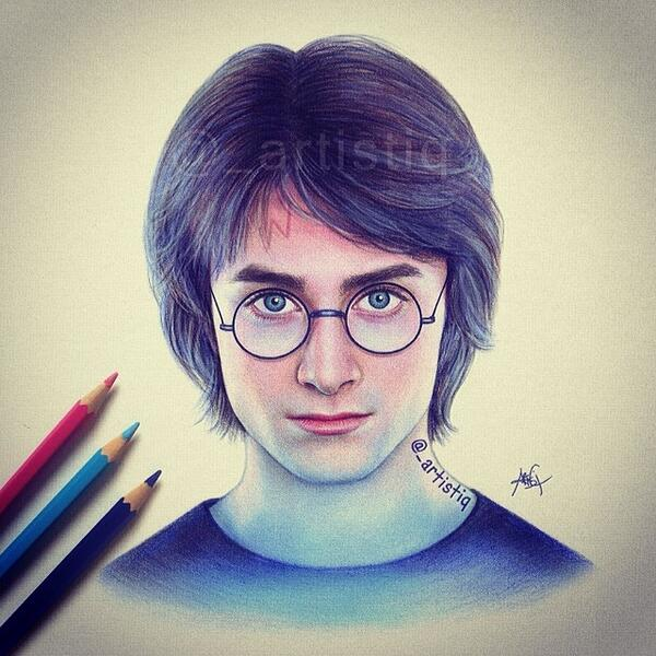 Drawn amd harry potter On  artistiq on colored