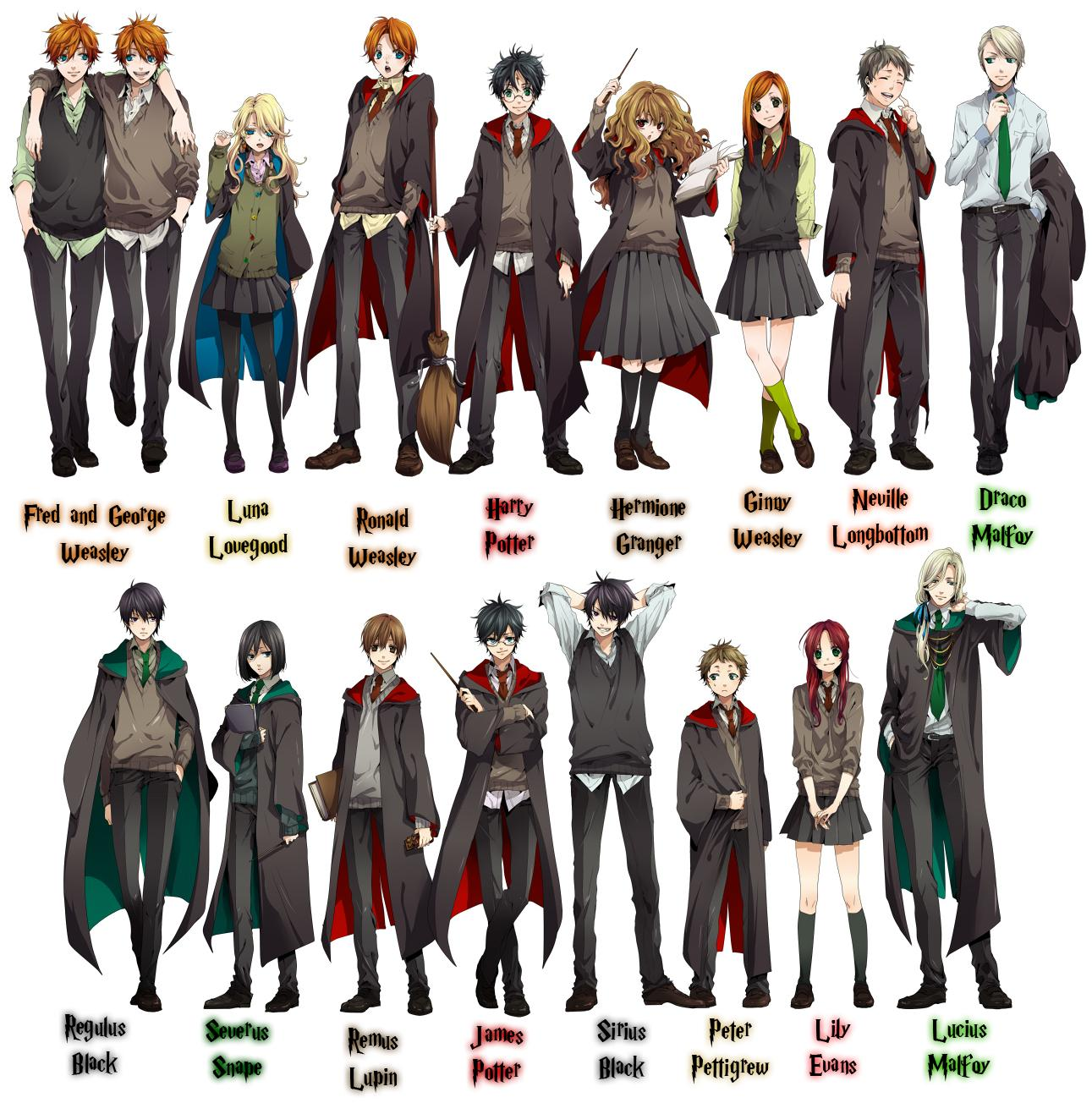 Drawn amd harry potter  Potter Anime Harry is