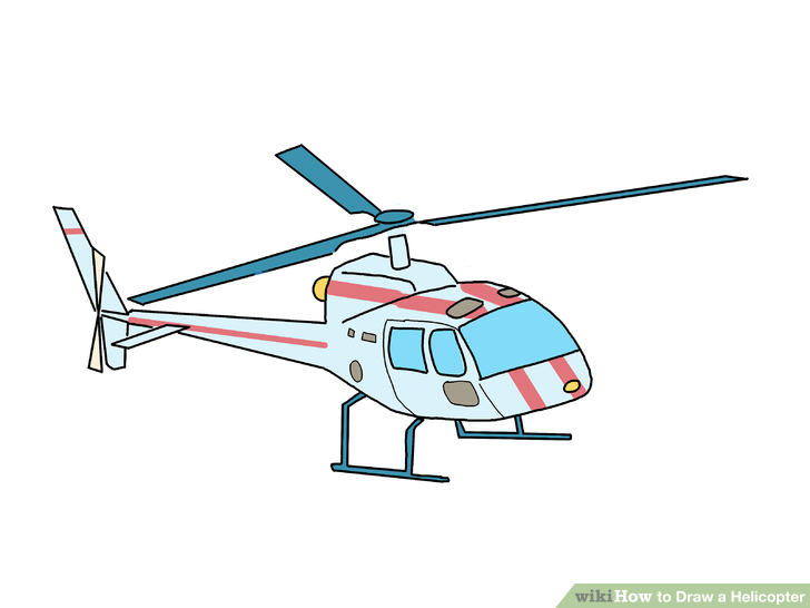 Drawn helicopter comic Image a to titled Helicopter