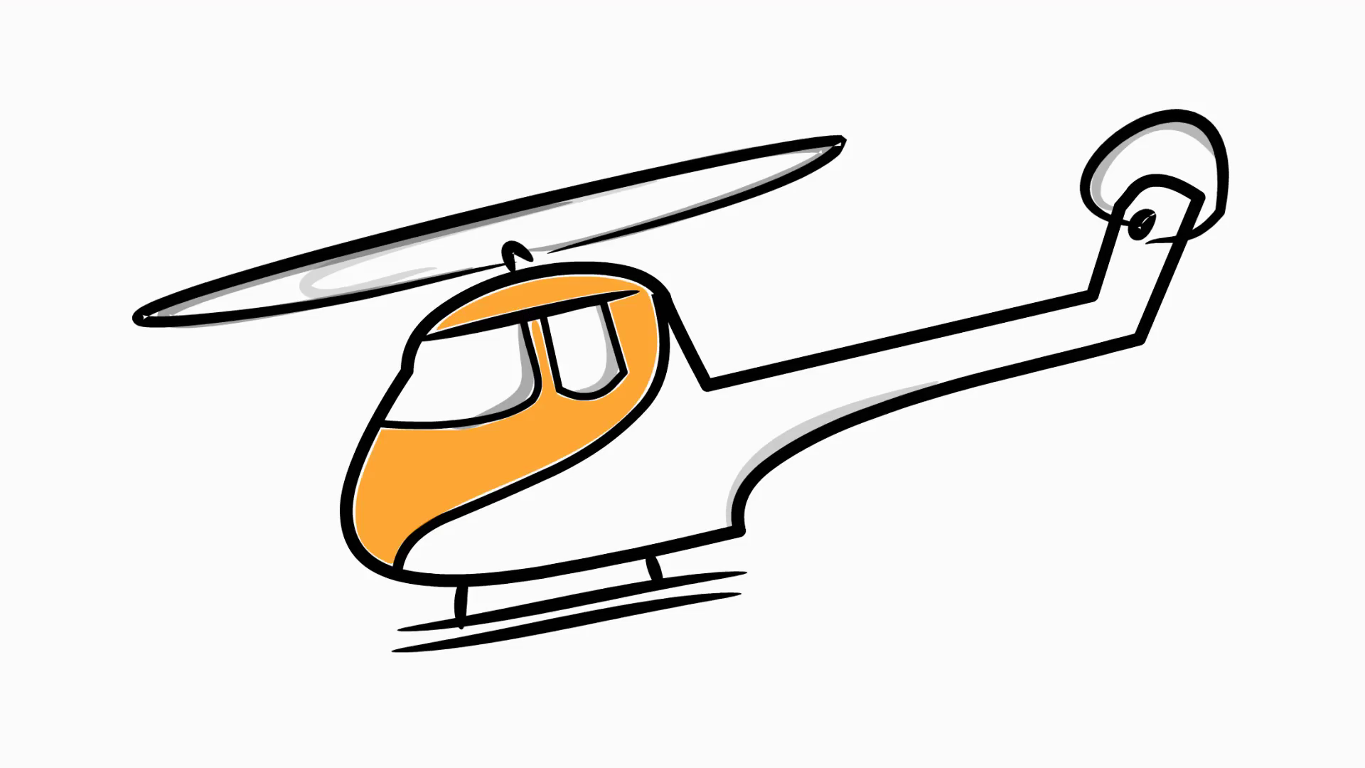 Drawn helicopter comic Helicopter illustration helicopter color hand