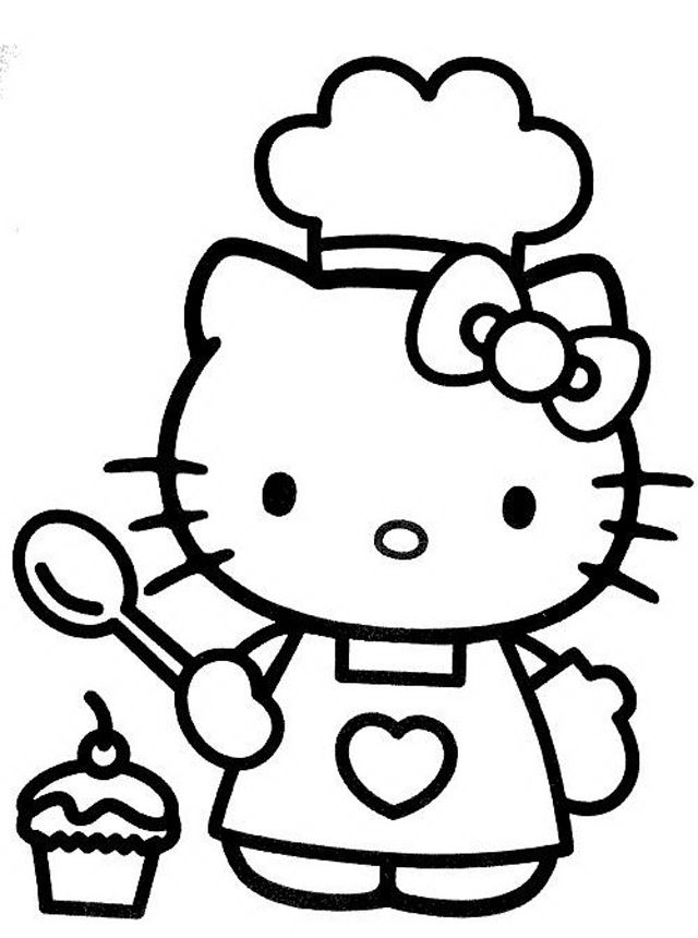 Drawn amd hello kitty Kitty Hello kitty coloring Pinterest