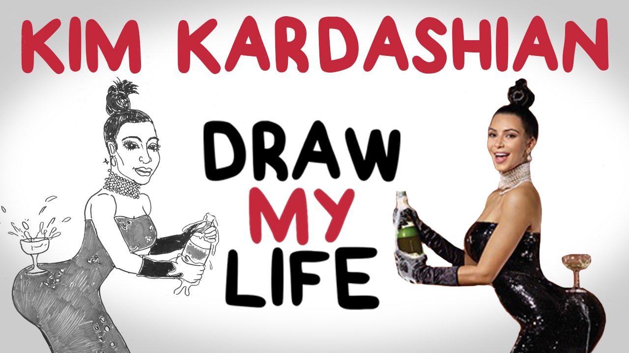 Drawn amd kim kardashian My Life Kim YouTube Draw