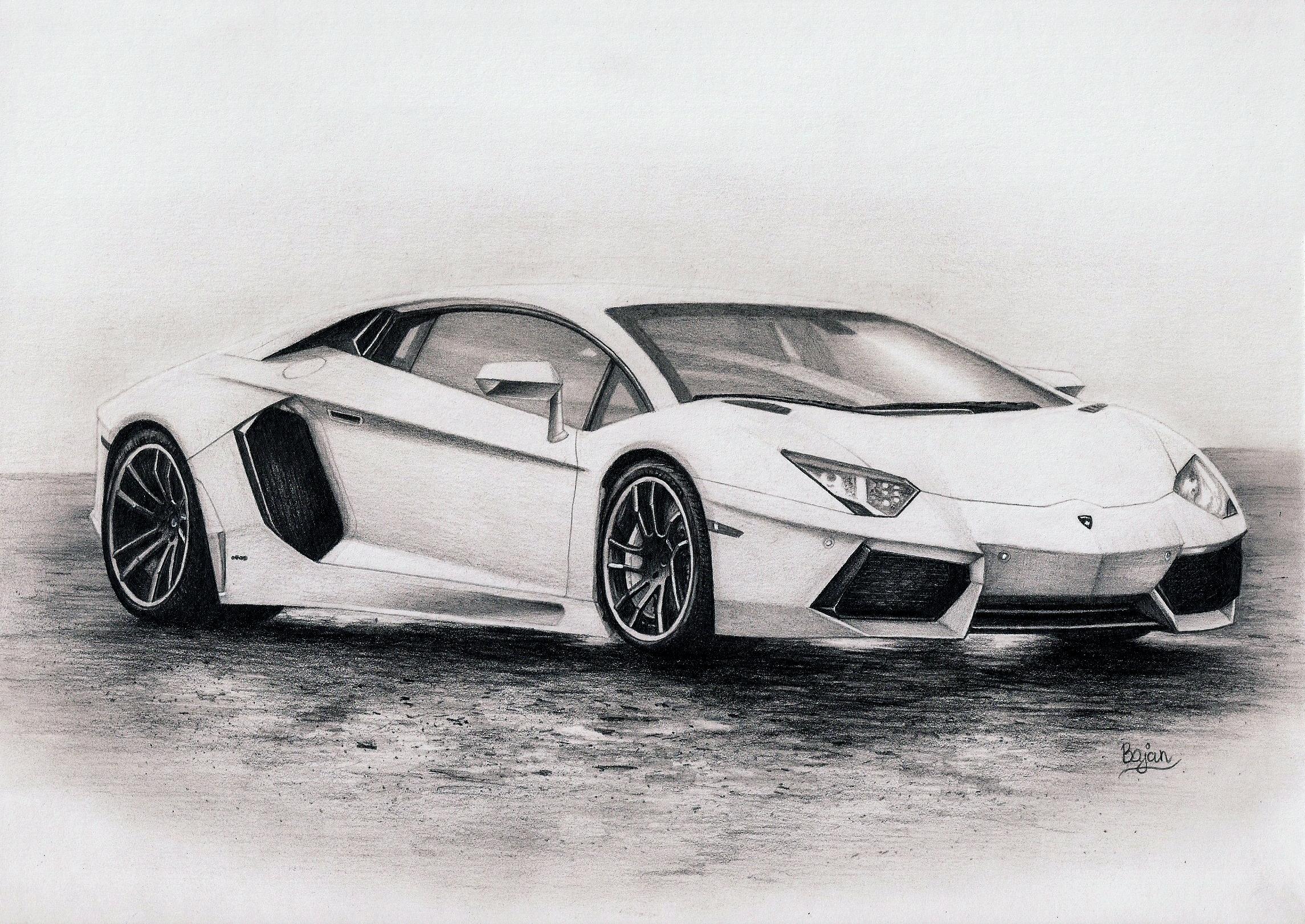 Drawn amd lamborghini aventador Drawing  on DeviantArt by