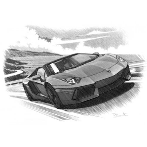 Drawn amd lamborghini aventador Spyder Lamborghini Lamborghini Aventador Personalised