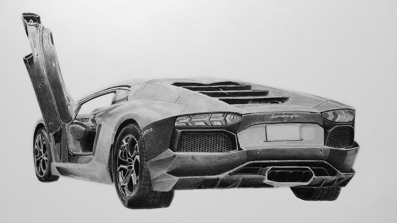 Drawn amd lamborghini aventador Drawing Speed Aventador YouTube by