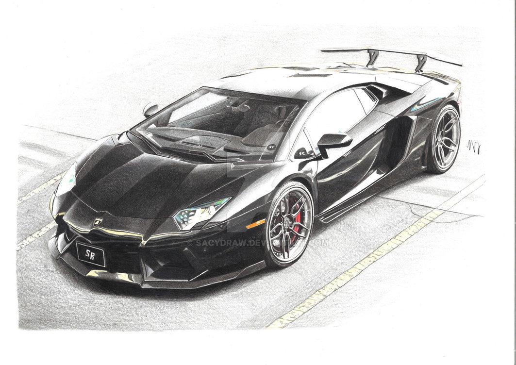 Drawn amd lamborghini aventador Sacydraw Lamborghini Lamborghini Aventador on