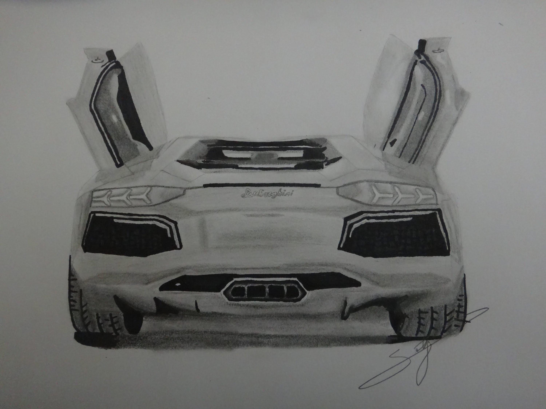 Drawn amd lamborghini aventador Aventador  YouTube Draw Lamborghini