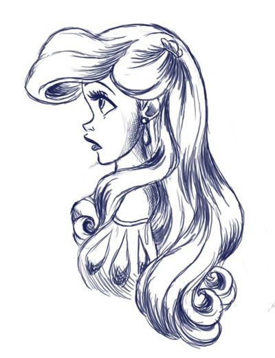 Drawn amd little mermaid Sketch Unexpected Best Little Mermaid