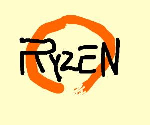 Drawn amd logo Logo AMD logo AMD Ryzen