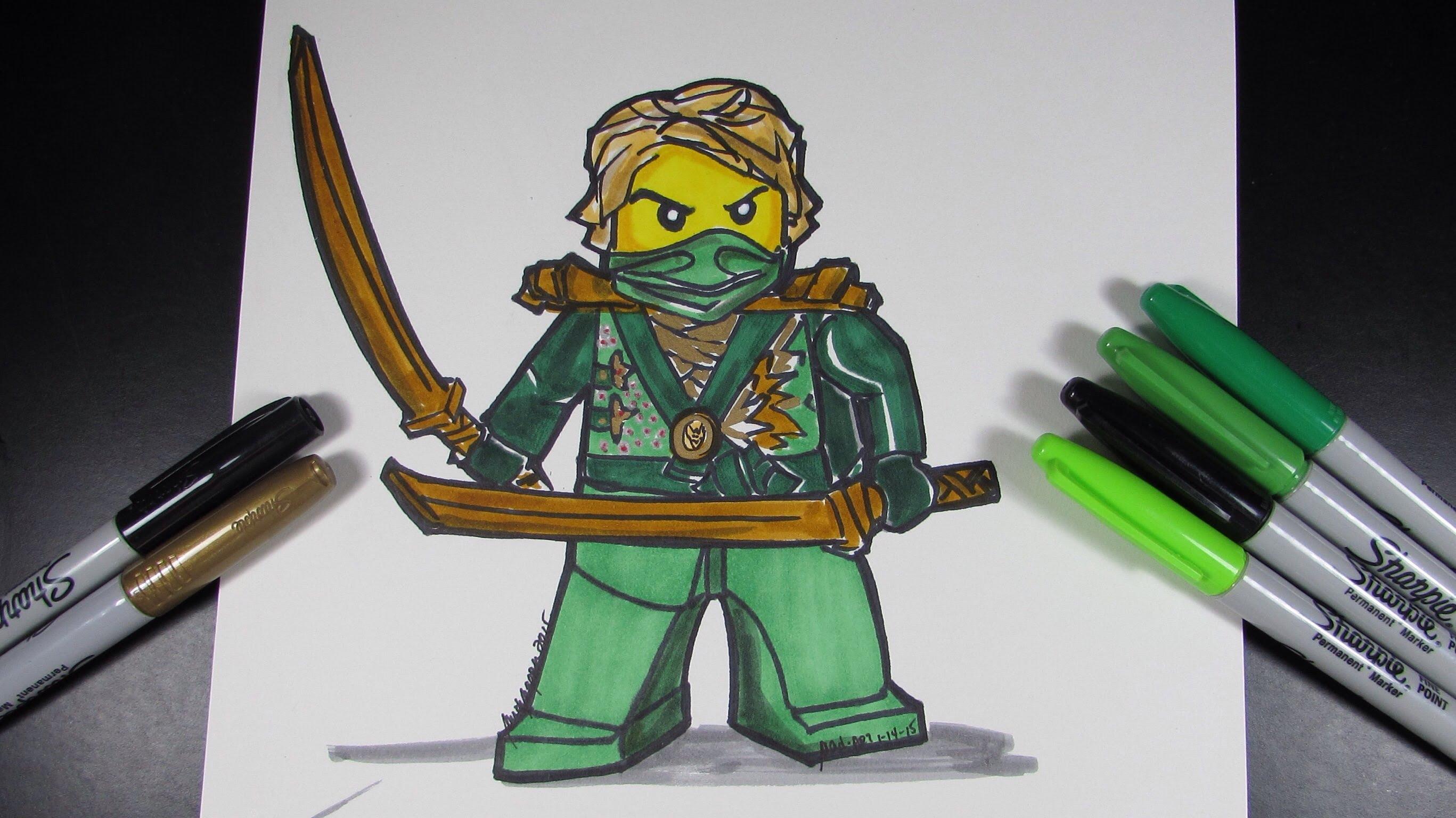 Drawn amd ninjago The Lloyd Ninja Ninjago Green