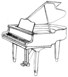 Drawn piano outline Draw step a piano by
