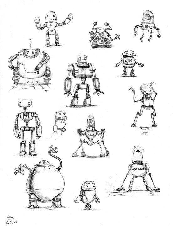 Drawn amd robot Images char on best 16