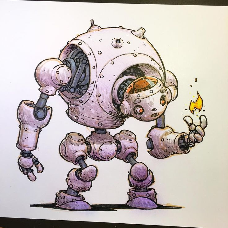 Drawn amd robot Kickstarter on in images the