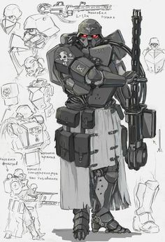 Drawn amd robot Exosuit and mechs Pin this