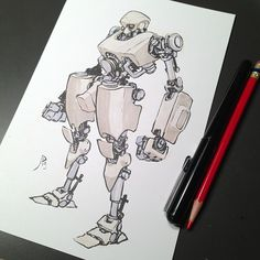 Drawn amd robot Armor Pinterest robots Mecha and