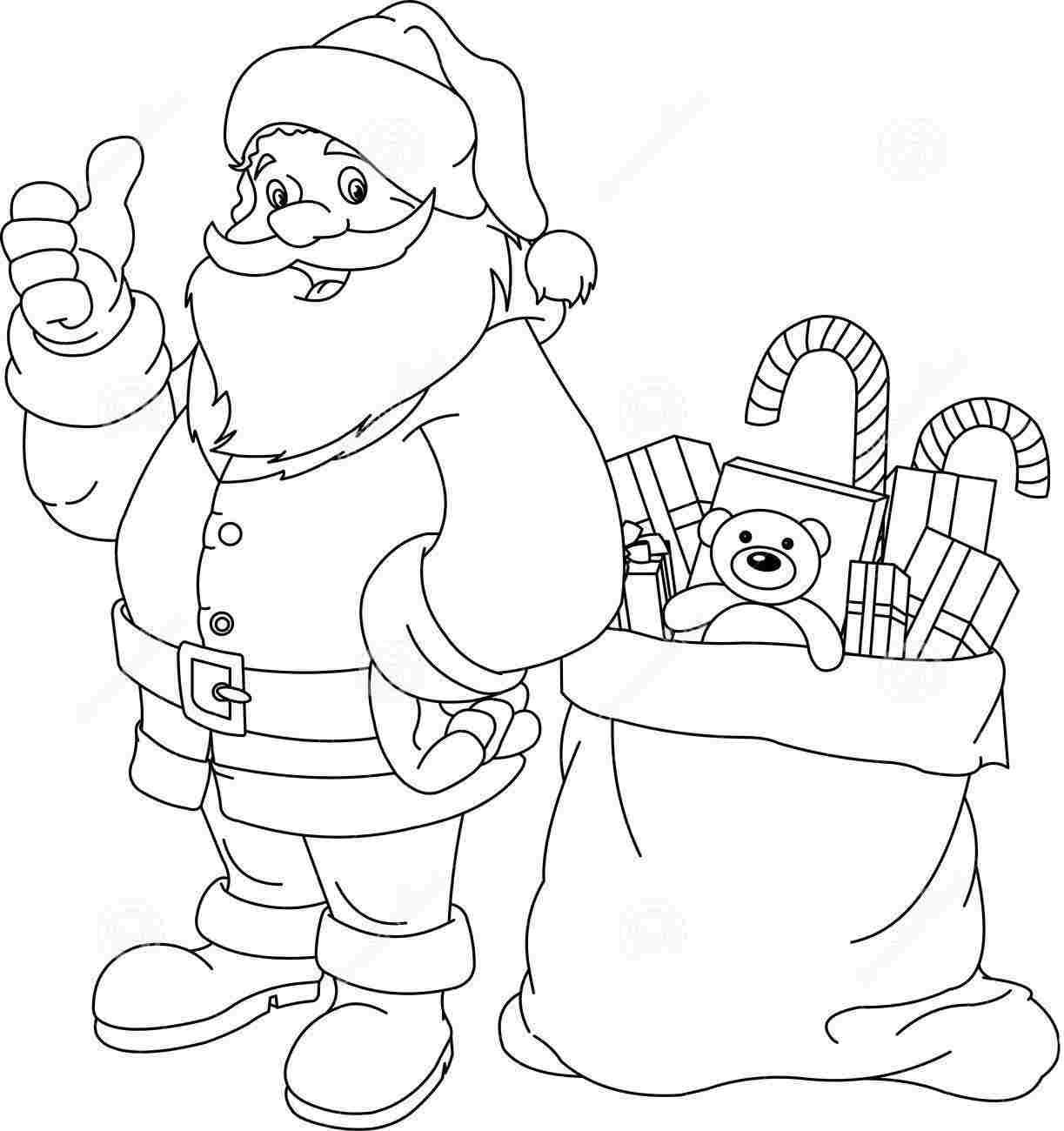 Drawn santa christmas coloring page Coloring For Coloring  Coloring