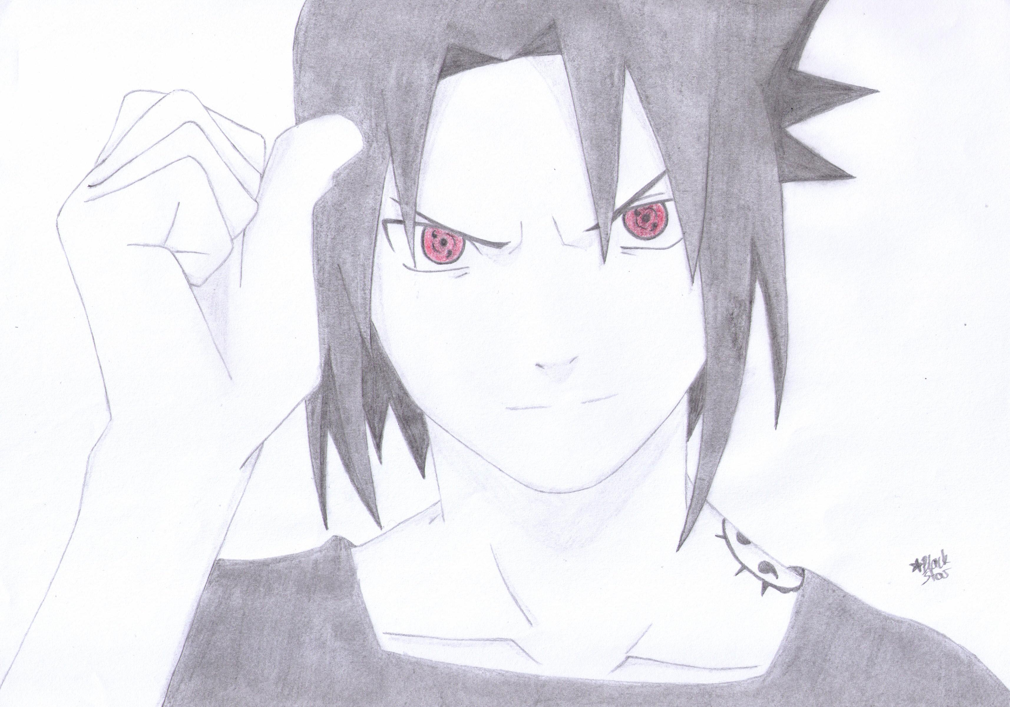 Drawn amd sasuke uchiha  Uchiha by (Naruto) (Naruto)