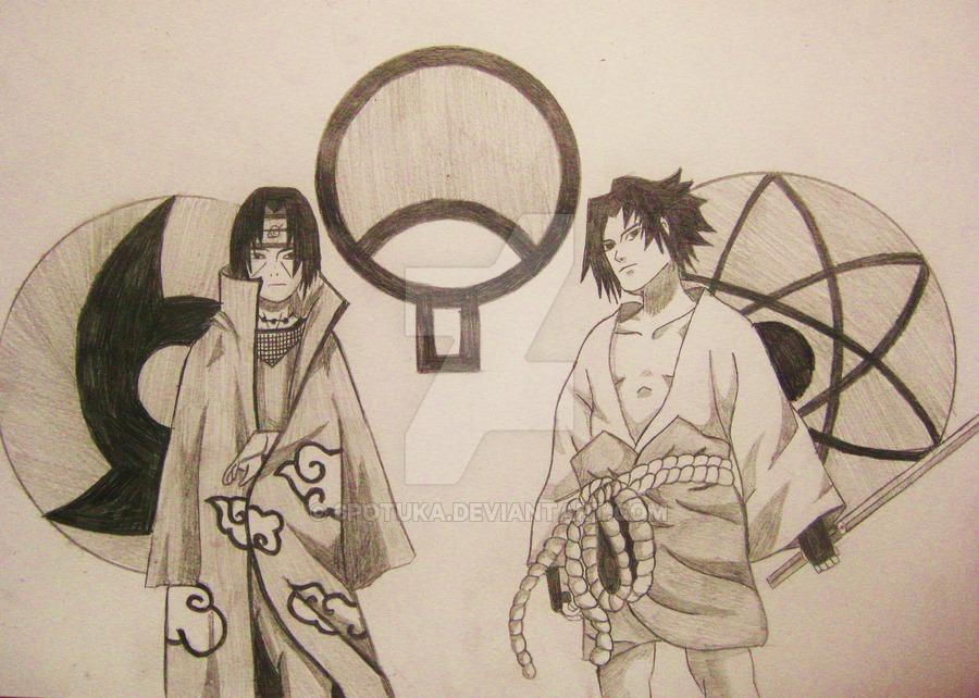 Drawn amd sasuke uchiha Sasuke itachi by uchiha itachi