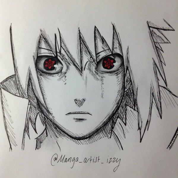 Drawn amd sasuke uchiha Uchiha Izzy on Izzy