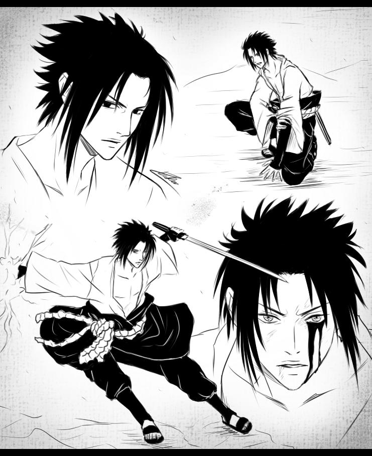 Drawn amd sasuke uchiha Naruto Uchiha CuBur by by