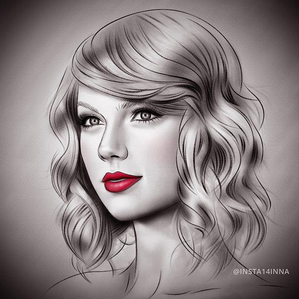 Drawn amd taylor swift Taylor Drawings ᗰαɗҽ beautiful! Ƭαყℓoɾ