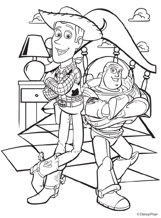 Drawn amd toy story Disney and Buzz page Toy