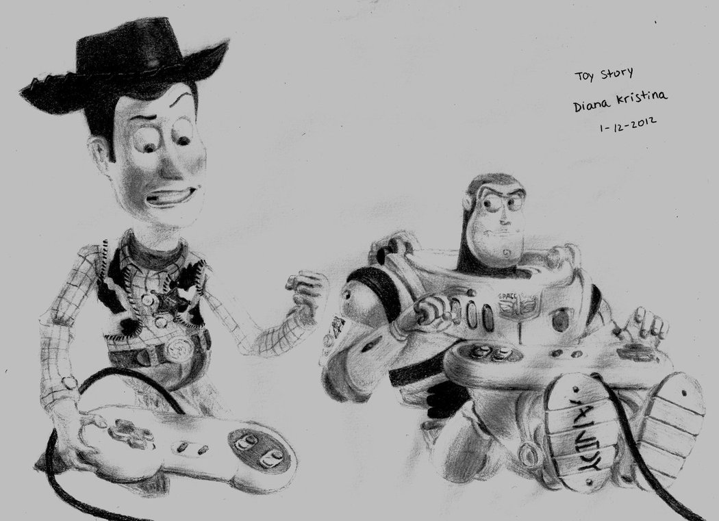 Drawn amd toy story Woody Story by Woody Toy